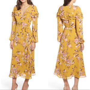 Wayf Mariah Maxi Dress In Golden Floral